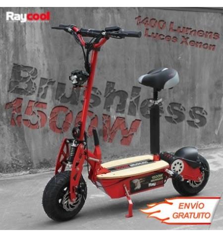 Patinete Raycool Brushless Con bateria de Litio 1500W