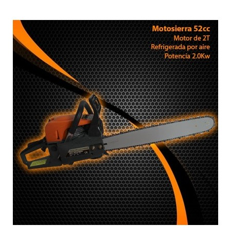 """MOTOSIERRA A GASOLINA HD 20"""" 52CC (MOTOR 3,5 CV)"""