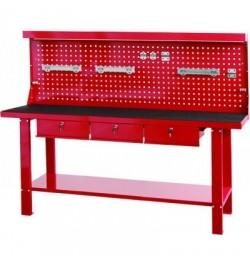 Banco de trabajo 3 cajones y panel de herramientas