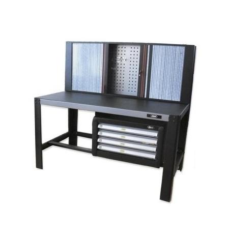 Mesa de Trabajo con persiana plegable