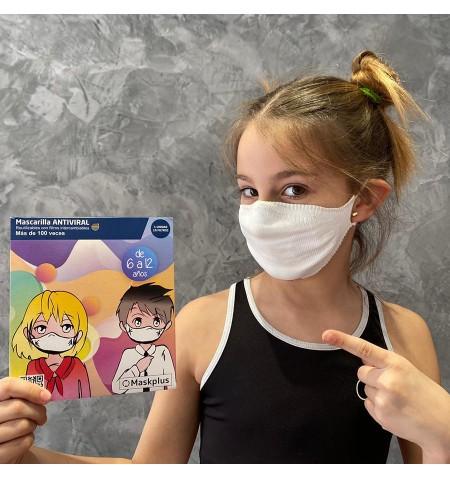 Mascarilla Kids 6-12 años con 10 filtros de papel