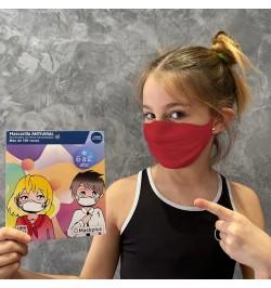 Mascarilla Kids 6-12 años con 10 filtros de papel (1 unidad)