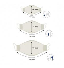 Mascarilla Adultos con 10 filtros de papel (1 unidad)