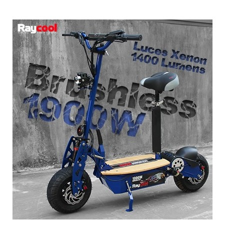 Patinete Eléctrico Raycool Brushles 1900W Deluxe(RESERVALO YA)